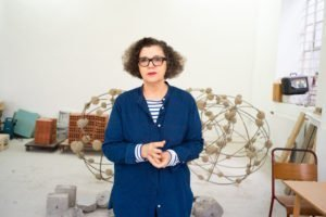 Mona Hatoum in her studio