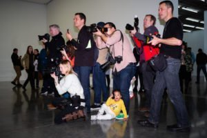 White Cube, the press pack for Tracey Emin's 'A Fortnight of Tears' and a baby.