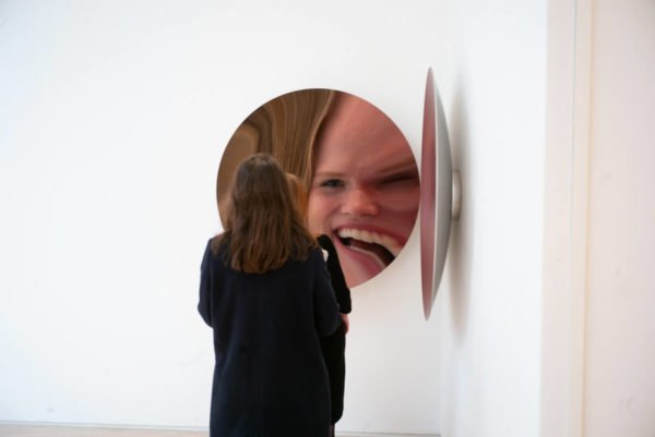 Work by Anish Kapoor in the gallery at Pitzhanger Manor, photographed by Alex Schneideman, 2019 and included in the book, Art London by Hettie Judah for ACC Art Books, 2019