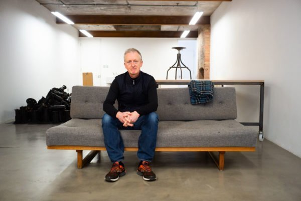 Michael Landy photographed by Alex Schneideman in his studio, London 22/3/19