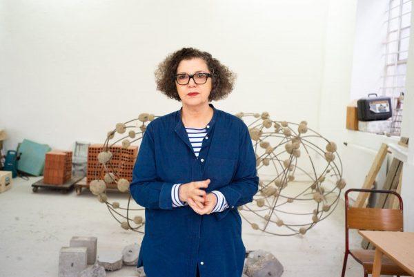 Mona Hatoum photographed by Alex Schneideman at her studio in London
