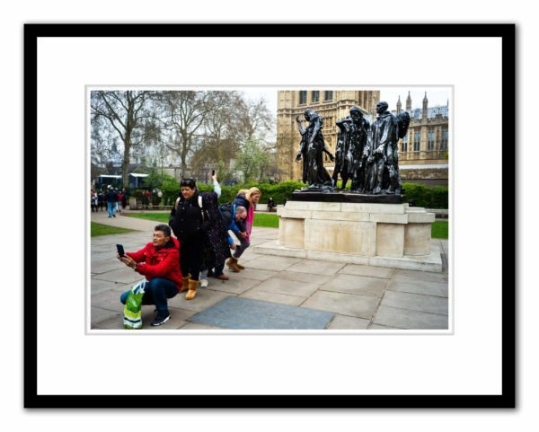 Auguste Rodin's The Burghers of Calais (1889) Victoria Tower Gardens. Photographed by Alex Schneideman and included in the book, Art London by Hettie Judah for ACC Art Books, 2019